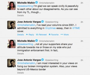 Blogger Michelle Malkin and Activist Jose Antonio Vargas Discuss Immigration on Twitter